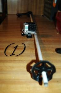 GoPro Camera & ski pole